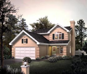 Traditional House Plan 95875 with 3 Beds, 3 Baths, 2 Car Garage Elevation