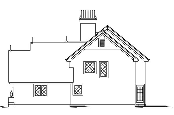 Cabin, Cottage, Craftsman, European, Tudor House Plan 95876 with 3 Beds, 3 Baths, 2 Car Garage Picture 2