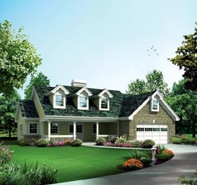 Cabin Cottage Country Ranch Traditional House Plan 95878 Elevation