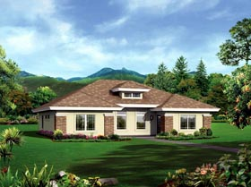 Multi-Family Plan 95884 | Ranch Style Plan with 2040 Sq Ft, 4 Bedrooms, 4 Bathrooms Elevation