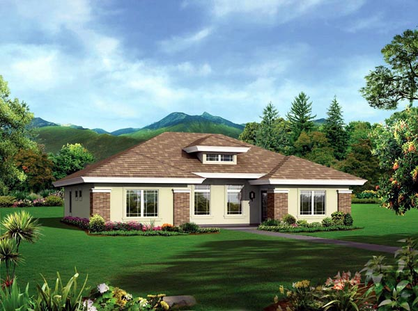 Ranch Multi-Family Plan 95884 with 4 Beds, 4 Baths Elevation