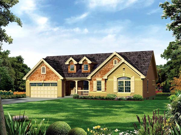 Country ranch traditional house plan 95887 for Traditional ranch house plans