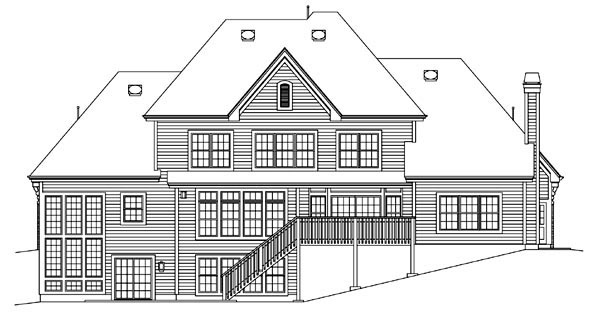 Traditional House Plan 95888 Rear Elevation