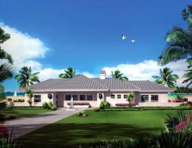 House Plan 95889 | Ranch Style Plan with 2254 Sq Ft, 3 Bedrooms, 3 Bathrooms, 2 Car Garage Elevation