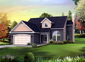 Colonial Contemporary Country House Plan 95890 Elevation