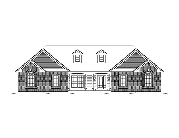 Cape Cod, Colonial, Country, Ranch, Traditional House Plan 95891 with 3 Beds, 3 Baths, 2 Car Garage Picture 3