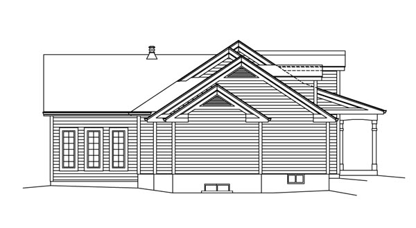 Cape Cod, Country, Ranch, Southern, Traditional House Plan 95892 with 3 Beds, 3 Baths, 2 Car Garage Picture 1