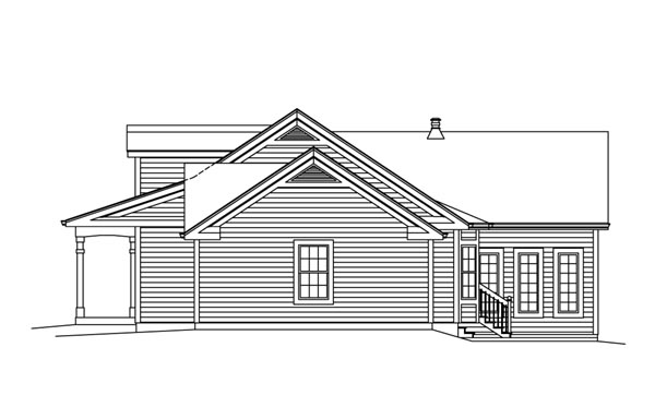 Cape Cod, Country, Ranch, Southern, Traditional House Plan 95892 with 3 Beds, 3 Baths, 2 Car Garage Picture 2