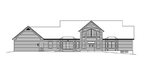 Cape Cod Colonial Country Southern Traditional House Plan 95893 Rear Elevation