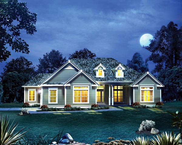 Cape Cod Colonial Country Craftsman European Ranch Southern House Plan 95895 Elevation