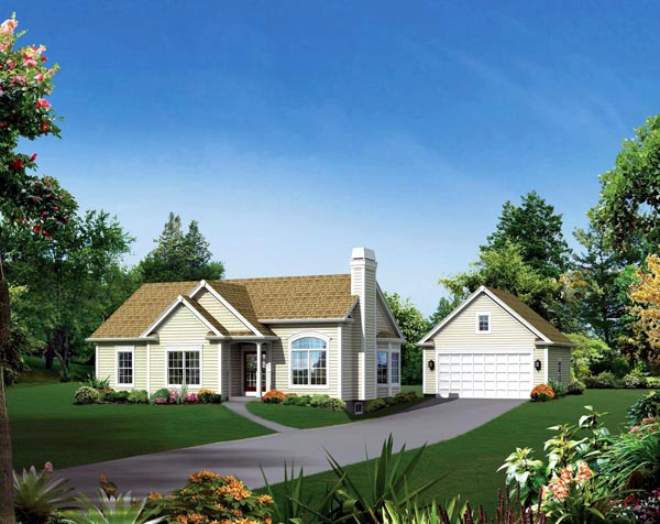 Cape Cod Country Ranch Traditional House Plan 95896 Elevation