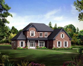 Country Craftsman Traditional House Plan 95898 Elevation