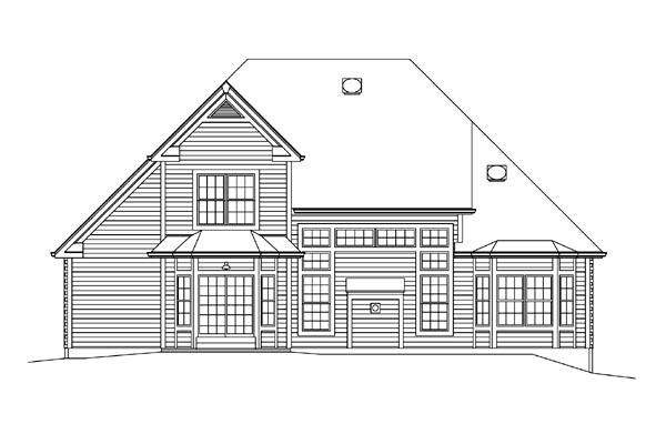 Country Craftsman Traditional House Plan 95898 Rear Elevation