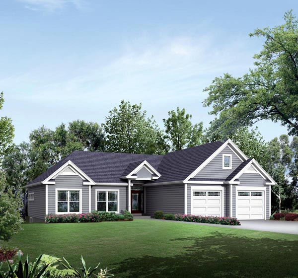 Colonial Country Ranch Traditional Elevation of Plan 95902