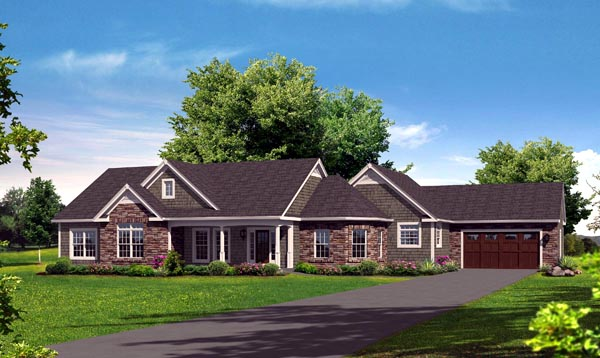 Ranch House Plan 95907 Elevation