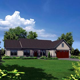 Country Ranch Traditional House Plan 95910 Elevation
