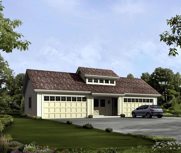 Garage Plan 95919 Elevation