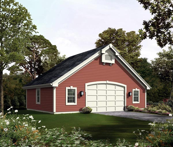 2 Car Garage Plan 95921 Elevation