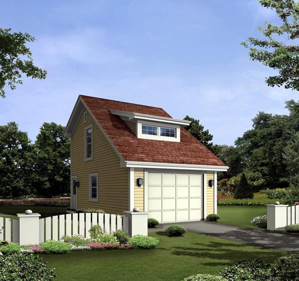 1 Car Garage Plan 95925 Elevation