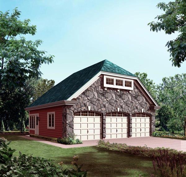 Garage Plan 95934 Elevation
