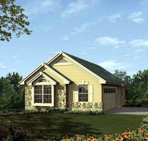 2 Car Garage Plan 95937 Elevation