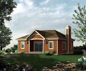 2 Car Garage Apartment Plan 95946, 1 Baths Elevation