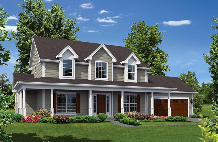 Country House Plan 95949 Elevation