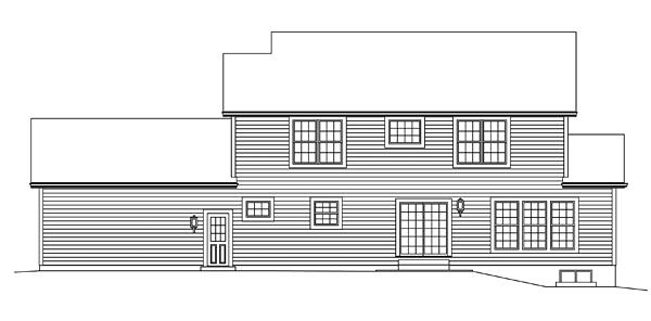 Country House Plan 95949 Rear Elevation