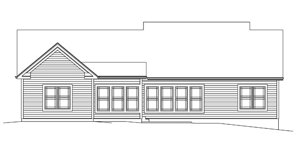 Ranch Traditional House Plan 95951 Rear Elevation