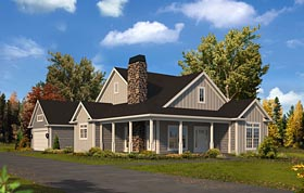 Country , Traditional House Plan 95953 with 3 Beds, 2 Baths, 2 Car Garage Elevation