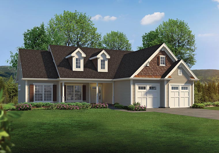 Country Ranch Traditional House Plan 95955 Elevation