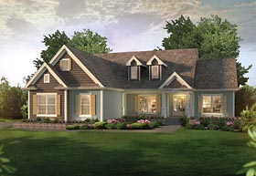 Traditional , Craftsman , Country , Bungalow House Plan 95958 with 3 Beds, 3 Baths, 2 Car Garage Elevation