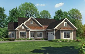 Country , Craftsman , Traditional House Plan 95960 with 3 Beds, 2 Baths, 2 Car Garage Elevation