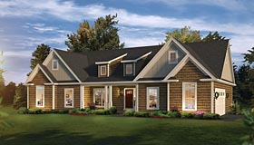 Traditional , Ranch , Craftsman , Country House Plan 95961 with 3 Beds, 3 Baths, 2 Car Garage Elevation