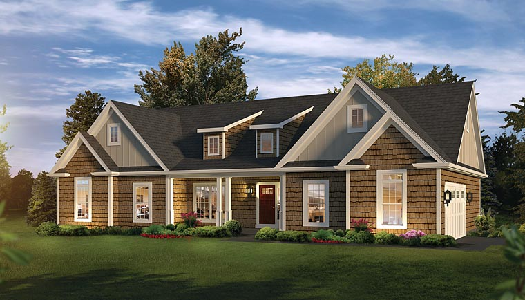 Country , Craftsman , Ranch , Traditional House Plan 95961 with 3 Beds, 3 Baths, 2 Car Garage Elevation