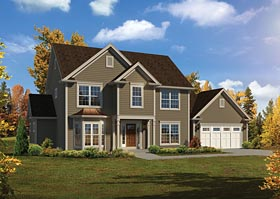Colonial Traditional House Plan 95962 Elevation