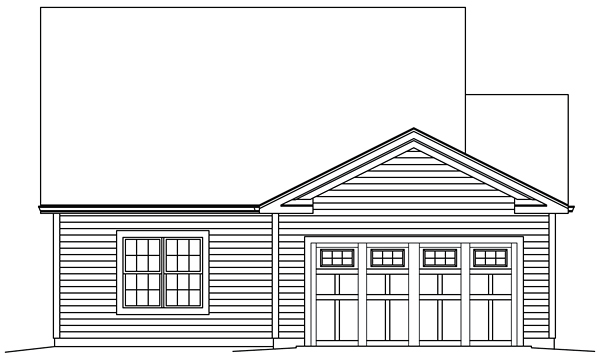 Country Traditional Rear Elevation of Plan 95963