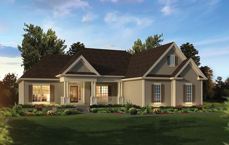 Country Ranch Traditional House Plan 95964 Elevation
