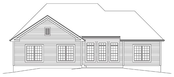 Country Ranch Traditional House Plan 95964 Rear Elevation