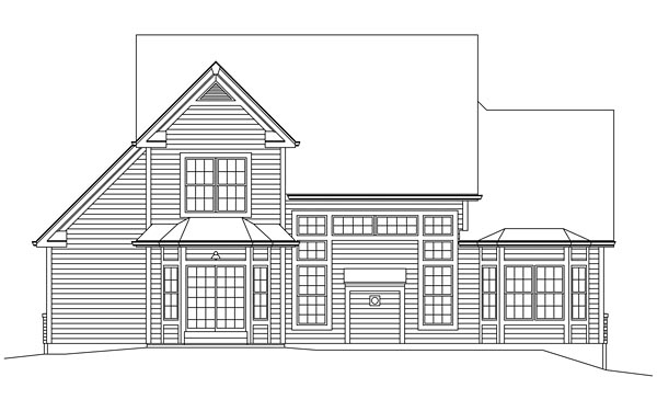 Colonial Traditional House Plan 95967 Rear Elevation