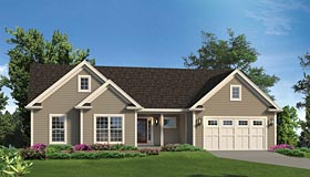 House Plan 95968 | Ranch Traditional Style Plan with 1820 Sq Ft, 3 Bedrooms, 2 Bathrooms, 2 Car Garage Elevation