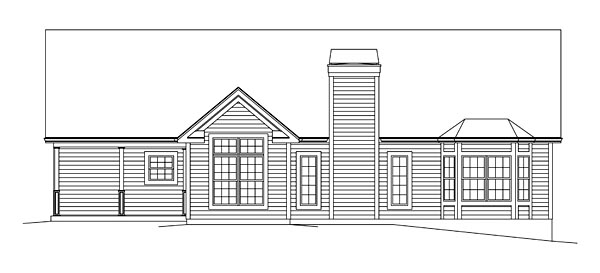 Ranch Traditional House Plan 95968 Rear Elevation