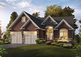 Craftsman European Traditional House Plan 95969 Elevation