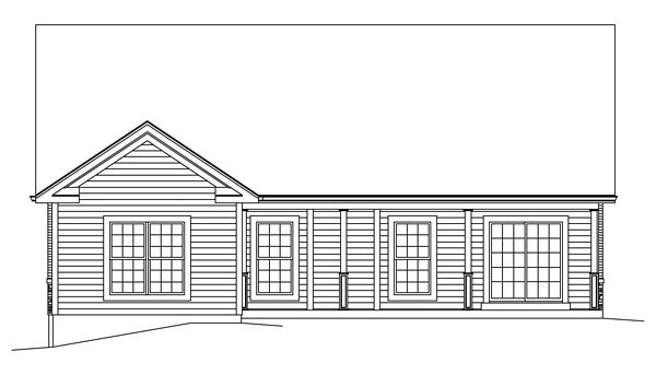 Craftsman European Traditional House Plan 95969 Rear Elevation