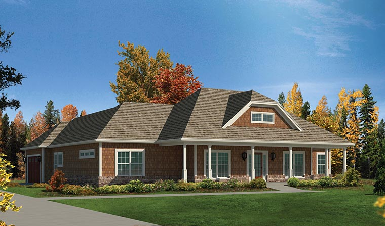 European House Plan 95970 Elevation