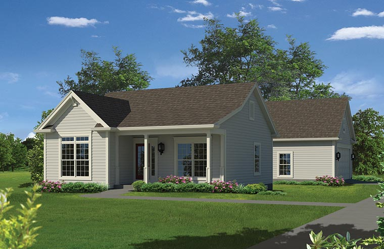Ranch Traditional Elevation of Plan 95971