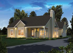 Ranch , Traditional House Plan 95973 with 3 Beds, 2 Baths, 2 Car Garage Elevation