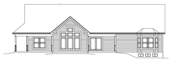 Country Craftsman House Plan 95974 Rear Elevation