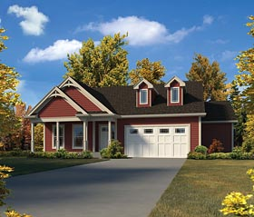 House Plan 95977 | Country Ranch Traditional Style Plan with 2453 Sq Ft, 3 Bedrooms, 2 Bathrooms, 2 Car Garage Elevation