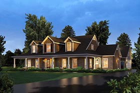 Country Southern House Plan 95978 Elevation